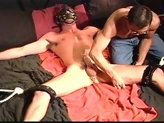 Muscle gay men are bound, made to shoot off before the real pain begins to bare foot