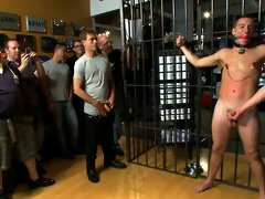 Young stud gets bound and used in front of many spectators