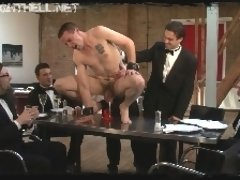 Perverted group of men humiliates a straight guy Darren