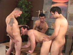 Angel Rocha, Armando Cortez and Erik in an astonishing bareback 4some action