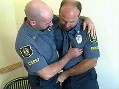 Two bear cops have a suck fest
