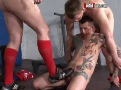 Edging, boot worship, cock chasity, mud, ass snifting, all brutal action on one fetish gallery
