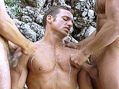 Jocks threesome sex after scuba diving