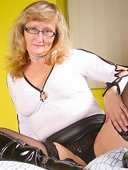 kinky blonde housewife getting wet