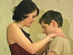 Little Bad Boy Woos A Pale Brunette Milf And Gets Laid