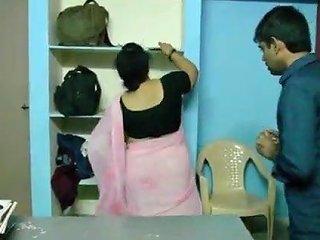 Telugu Bbw Aunty Seduce Young Boy