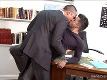 Muscle bears get naked and fuck in the office