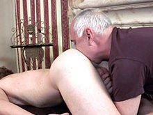 Muscle stud gets massaged by a horny mature man Jake