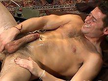 Sexy stud Ari Silvio gets fucked hard by the Dragon Fucking Machine.