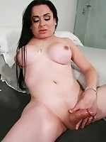 Horny latina with a big cock!