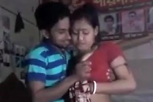 Desi Couple Boobs Pressing Hard
