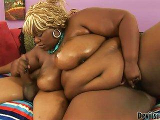 Thunder Katt The Fat Black Babe Sucks Big Dick With Pleasure