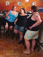 Lovely fat girl fuck and suck in orgy