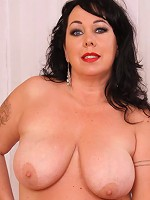 Adorable plump mature gets rid of her lacy undies