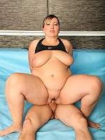 Final sex round after exciting BBW wrestling match