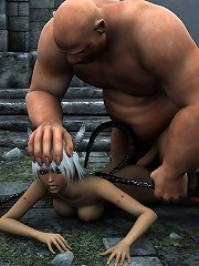 3D Highschool girl with hard strap-on gets nailed