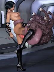 Elf Girl pleasures tough cock as gets bombed