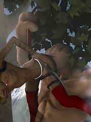 Schoolgirl slams Demon at the park