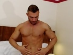 Pedro Andreas is from Spain and has warm blood. If he can't have a hole to fill, he will jerk off as you can see in his 8 minutes with you.