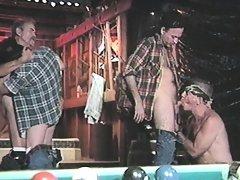 Hard working guys lick thick pricks