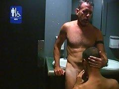 Hung bears 69 in the bathroom