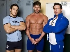 After a visit to their coach turns two jocks into horny pervs, they return to their school to take over his position.  Coach Chris Rockway and Coach R