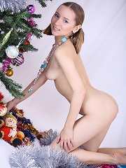 Playful Christmas teen
