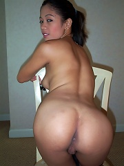Pretty young Filipina babe undresses after class is out