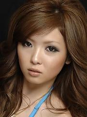 Hot Naami Hasegawa in blue bikini top