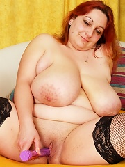 Busty big big babe loves to get pounded!