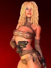 3D Sorceress gets captured...