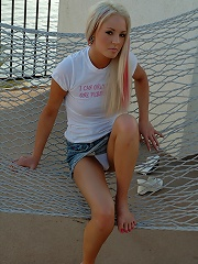 Dream Kelly hot on hammock