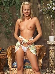 Josie in See Thru White Panties
