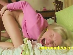 Tight Teen Screams From Brutal Anal Fucking