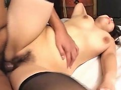 Sexy Asian Girl In Stockings Gets Fucked Hard
