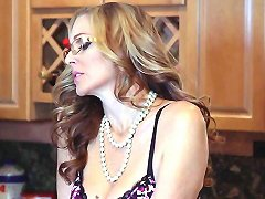 Busty Stepmom Doggystyled While Eating Pussy
