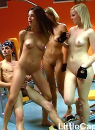 4 Girls Playing With Cock In Gym Teen Porn Pix