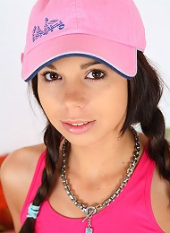 Barely Legal Teenager In Sexy Pink Cap Sucking Cock Teen Porn Pix