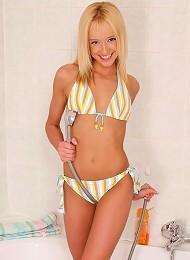 Charming Blonde Spreads In Shower Teen Porn Pix