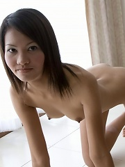 Light skinned Thai girl Fa posing nude!