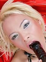 Maia Monroe From Argentina Sucking A Dildo