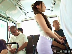 AnyPorn Video - Curvy Sayuki Kanno Gives Head In A Subway Train