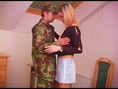 BravoTube Video - Army Guy Comes Home On Leave And Fucks His Hot Girlfriend