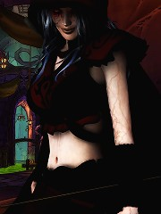 Innocent Mistress rides nasty Orc