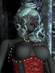 Hoe Fantasy Heroine gets slammed by 3D Demon