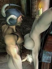 Crazy 3D Boss gets intense hole pleasure