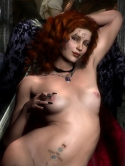 Cover girl with juicy bust railed and gets off